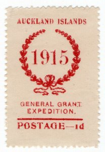 (I.B) New Zealand Cinderella : General Grant Salvage Expedition 1d (1915)