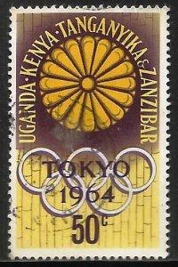 Kenya, Uganda & Tanzania 1964 Scott# 145 Used
