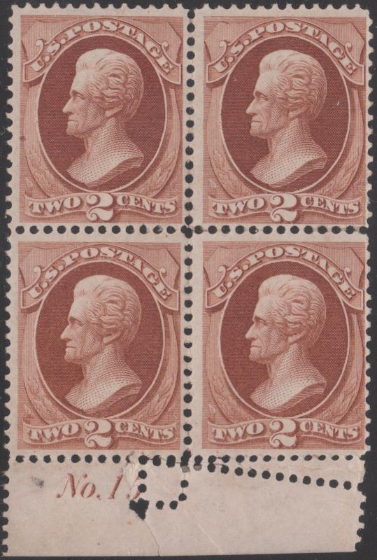 #146 VAR F-VF OG W/ FOLD OVER ERROR & PLATE # BLK/4 UNIQUE CV $1,650++ WL1159A