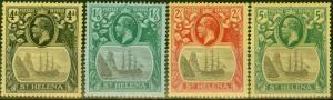 St Helena 1922-23 set of 4 to 5s SG92-95 V.F Very Lightly Mtd Mint