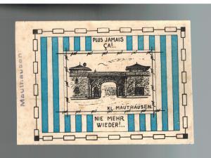 1940s  Austria Mauthausen Concentration Camp Memorial Postcard Cover