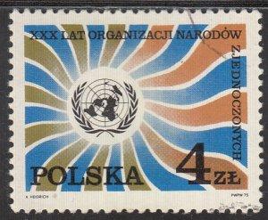Poland, Sc 2110, CTO-NH, 1975, UN Emblem