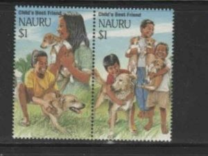 NAURU #409a 1994 CHILDS BEST FRIEND MINT VF NH O.G PAIR