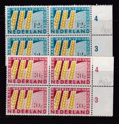 Netherlands Scott# 413-414 MNH Blocks of 4