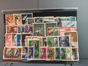 Greece vintage and coin stamps R22746