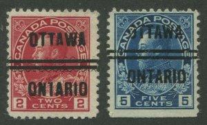 CANADA PRECANCEL OTTAWA 1-106, 1-111