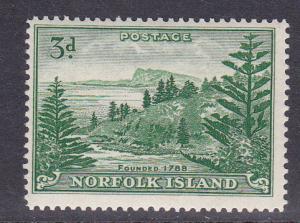 Norfolk Island # 23, Mint LH, 1/2 Cat