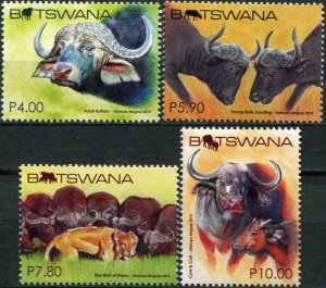 Botswana 2015. African Buffalo In Botswana (MNH OG) Set of 4 stamps