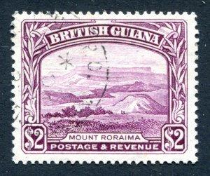 British Guiana 1938 KGVI. $2 purple. Used. P14 x 13. SG318a.
