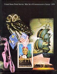 USA MNH 1978 USPS Commemorative Year Set