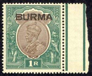 Burma Sc# 13 MNH 1937 KGVI (overprint)