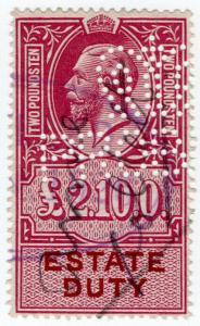(I.B) George V Revenue : Estate Duty £2 10/-