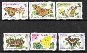 CAYMAN ISLANDS SG1074/9 2005 BUTTERFLIES MNH