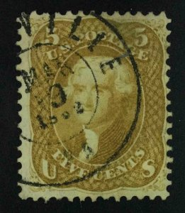 MOMEN: US STAMPS #67 USED LOT #54344