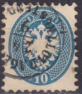 Austria  Lombardy-Venetia #23  F-VF Used CV $22.50  (A18683)