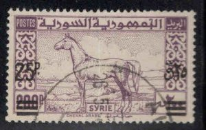 Syria Scott 347 Used Arabian Stallion surcharged stamp