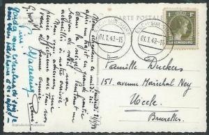 LUXEMBOURG 1949 postcard ESCH-SUR-SURE cds.................................38554