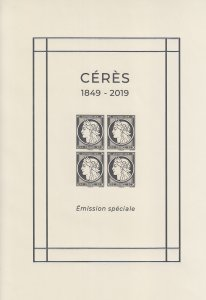 2019 France Ceres Anniversary Special MiniSheet (Scott NA) MNH
