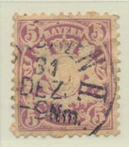 Bavaria (German State) Stamp Scott #49, Used - Free U.S. Shipping, Free World...