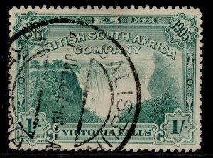 RHODESIA EDVII SG97, 1s blue-green, FINE USED. Cat £50. CDS