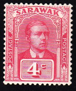 Sarawak Scott 55 Unused hinged.