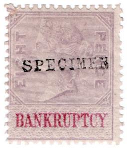 (I.B) QV Revenue : Bankruptcy 8d (1889) specimen