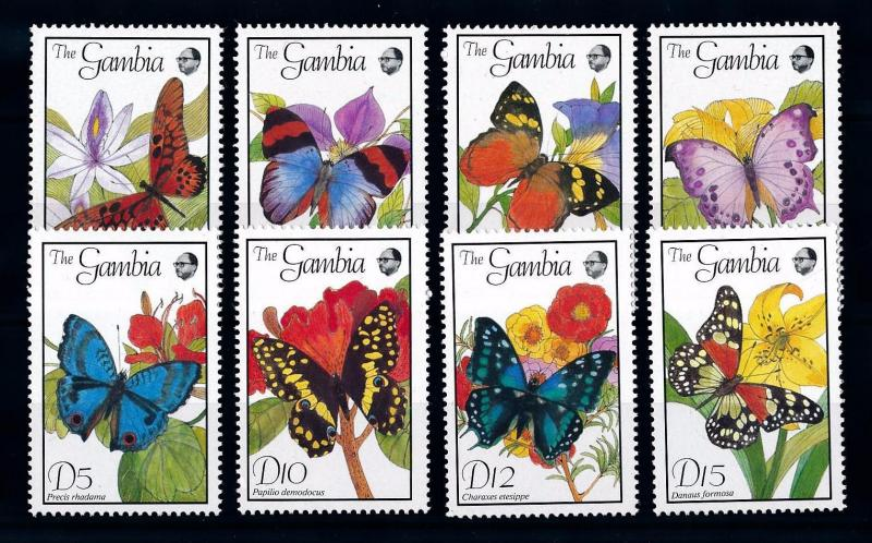 [70699] Gambia 1989 Insects Butterflies  MNH