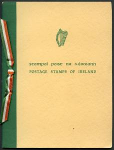 IRELAND 1954 PRESENTATION FOLDER  STAMPS ARE MINT HINGED CATALOG VALUE $565.35
