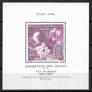 1969 Congo Sc662 Adoration of the Kings by Rubens MNH S/S
