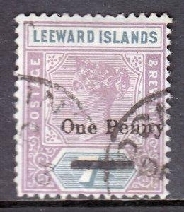 Leeward Islands - Scott #19 - Used - Crease, short perf, pencil/rev. - SCV $11