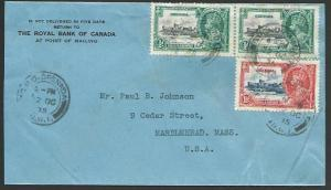 GRENADA 1935 cover to USA, Jubilee franking................................53156
