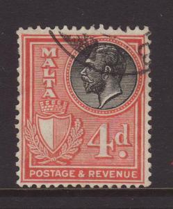 1930 Malta 4d Inscr Postage & Revenue Fine Used SG200
