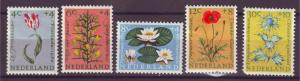 J15710 JLstamps 1960 netherlands set mh #b343-7 flowers
