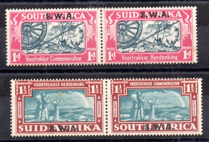 South West Africa 1938 Voortrekker LHM set SG109-110 WS9313