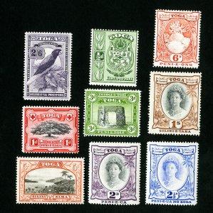 Tonga Stamps # 73-81 VF OG LH Catalog Value $50.00