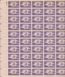 US Stamp - 1941 Vermont Statehood - 50 Stamp Sheet - Scott #903