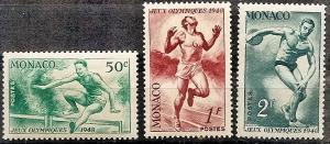 Monaco  204-6 MNH 1948 Olympic Games, England
