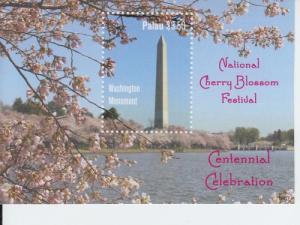 2012 Palau Cherry Blossom Trees SS (Scott 1093) MNH
