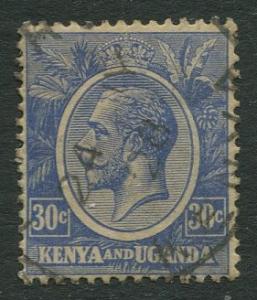 Kenya & Uganda - Scott 26 - KGV Definitive -1922 - Used- Single 30c Stamp