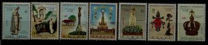 Portugal col. 7 MNH values Fatima,1967,joint issue