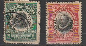 ,# Canal Zone Used overprints