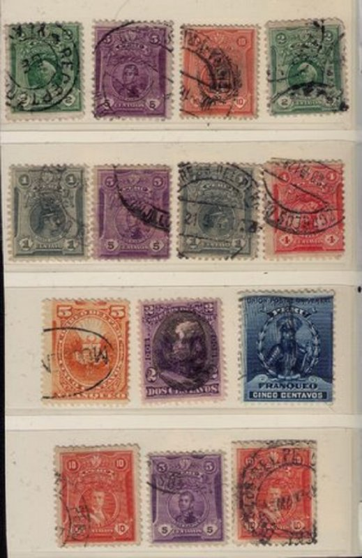 PERU Early Lot of (14) (1875-1890) Used Stamps F-VF