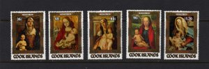 Cook Islands #838-842 MNH Religious Christmas Art 1984 NH Paintings