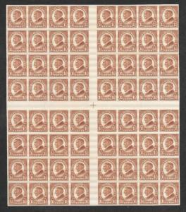 631 MNH 1 1/2c. Harding, Center Block of 64,