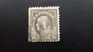 United States  Benjamin Franklin 15c Used