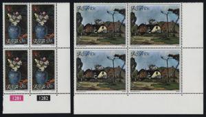 South Africa 532-3 BR Blocks MNH Art, Flowers, Architecture, Pieter Wenning