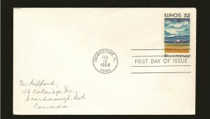 USA 1339 Illinois Farm House 1968 First Day Cover