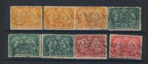 8x Canada Victoria Jubilee Stamps 3x #51-1c 3x #52-2c 2x #53-3c  GV = $66.00