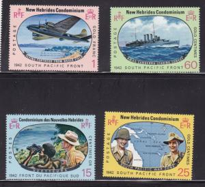 New Hebrides 123-126, MNH Set of 4 - WW2 Issues From 1942