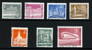 WEST BERLIN GERMANY 1957-59 Berlin Buildings & Monuments SG B133 to SG B146a VFU